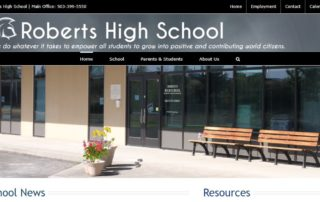 New Roberts Website Screen Capture