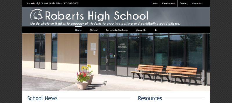 New Roberts Website Screen Capture