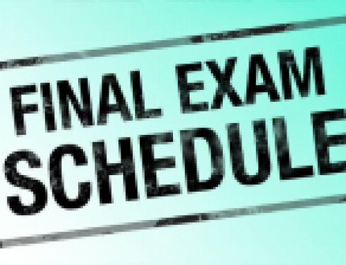Finals Schedule for Roberts Annex