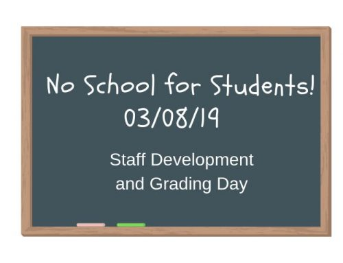 No School for Students! 03/08/19