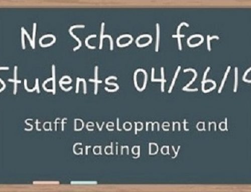 No School for Students! Friday 04/26/19