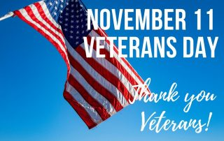 November 11 Veterans Day American Flag