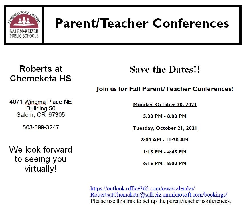 Schedule your parent-teacher conferences here!